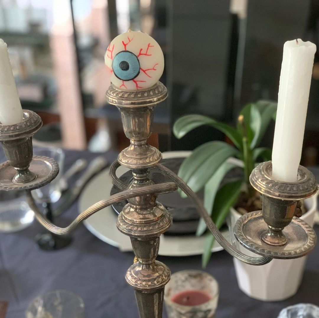 Candle with an eye on it