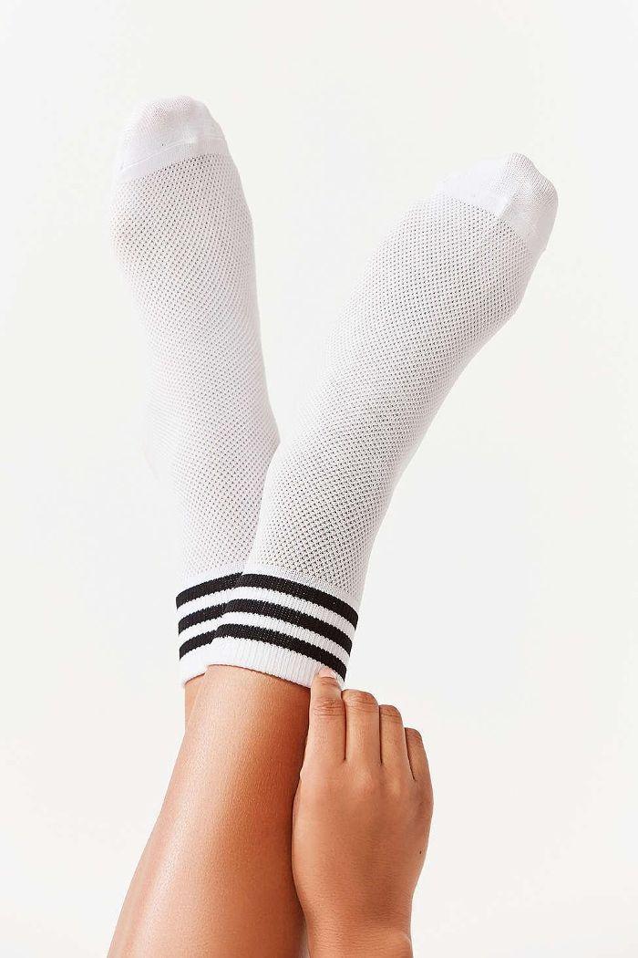Urban Outfitters x Adidas Originals Mesh Striped Quarter Sock