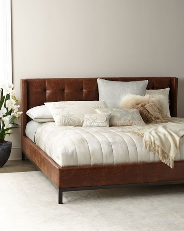 Horchow Patterson Tufted Platform King Bed
