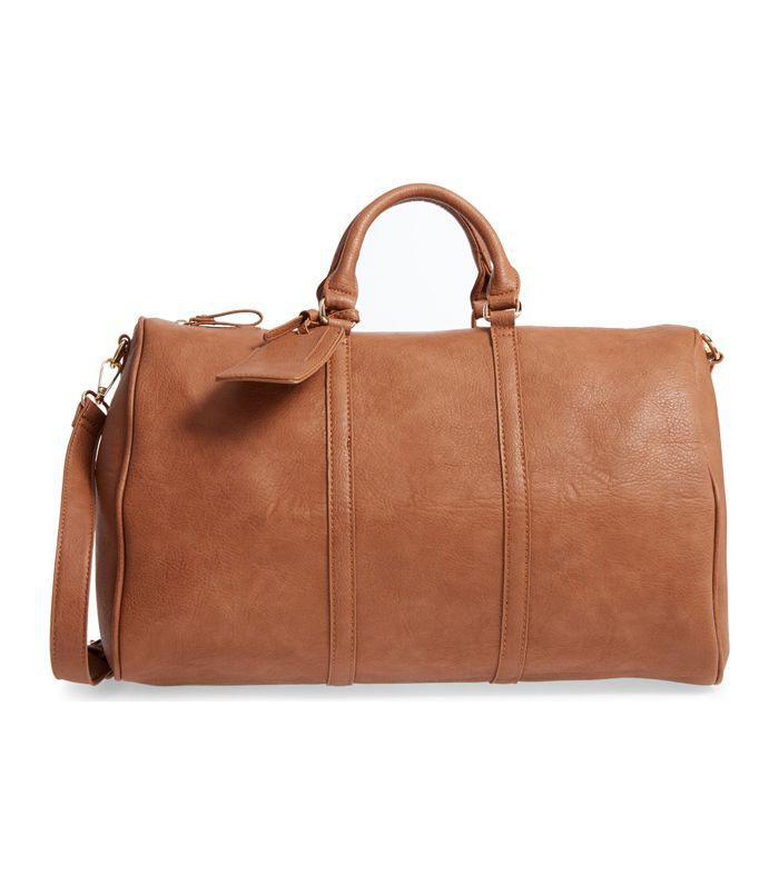 'Cassidy' Faux Leather Duffel Bag -
