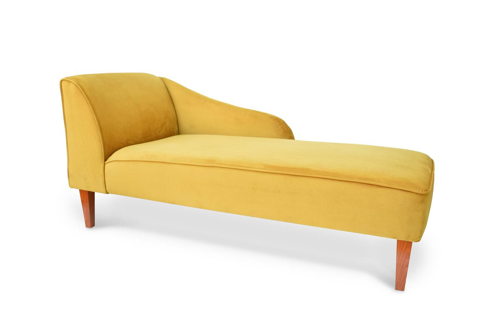 Yellow chaise lounge.