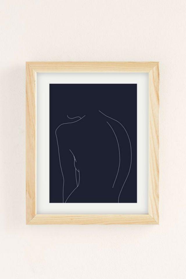 Woman's Back Line Print