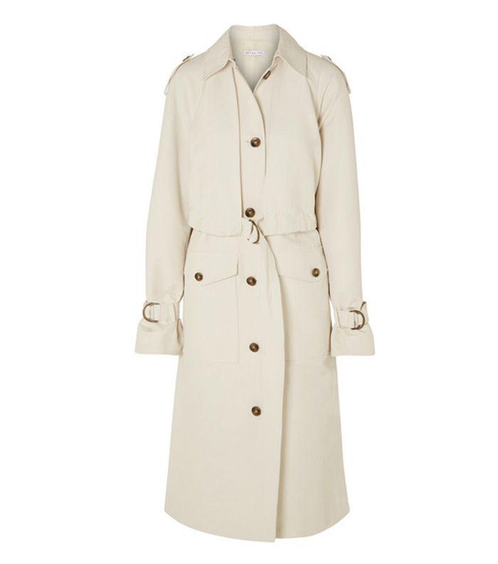 Wren Belted Gabardine Trench Coat