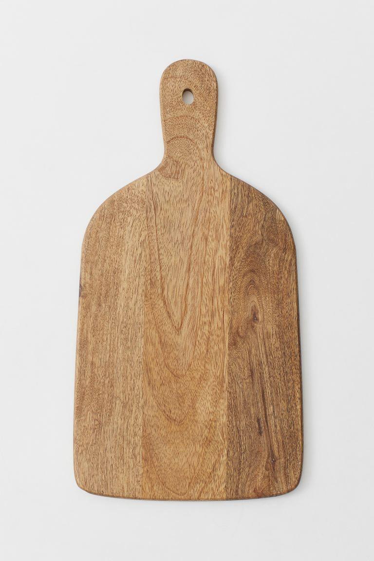 Wooden cutting board.