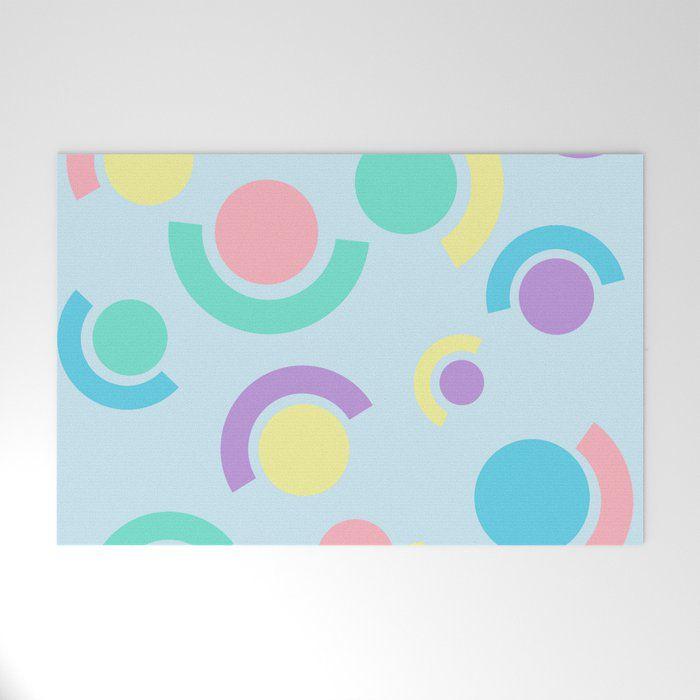Abstract Circles & Dots Welcome Mat