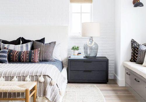 Neutral white bedroom