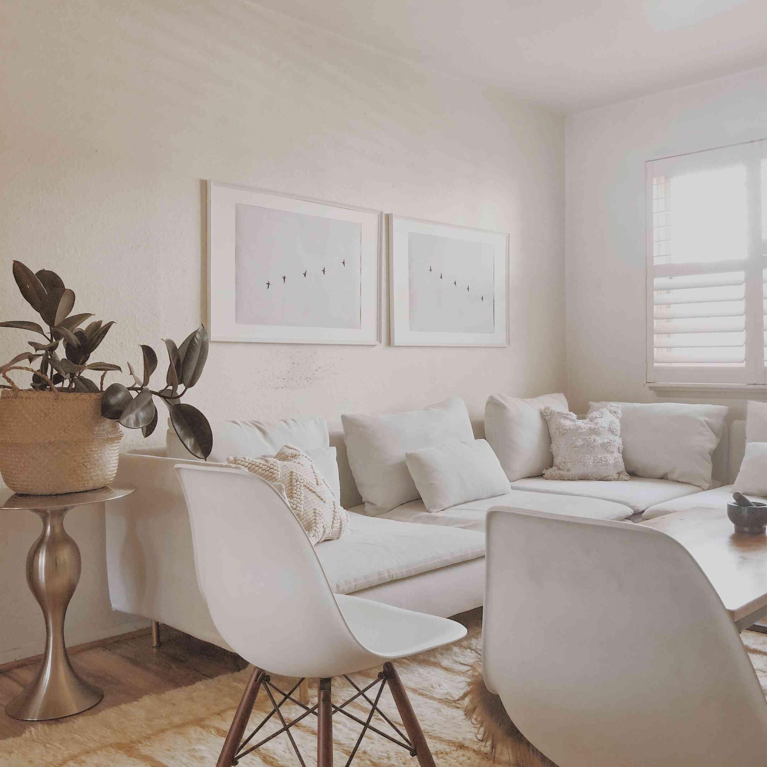 Living room in neutral color palette