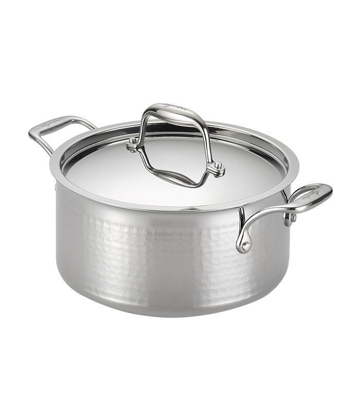 Martellata Tri-Ply Stainless Steel 5-Quart Covered Stewpot
