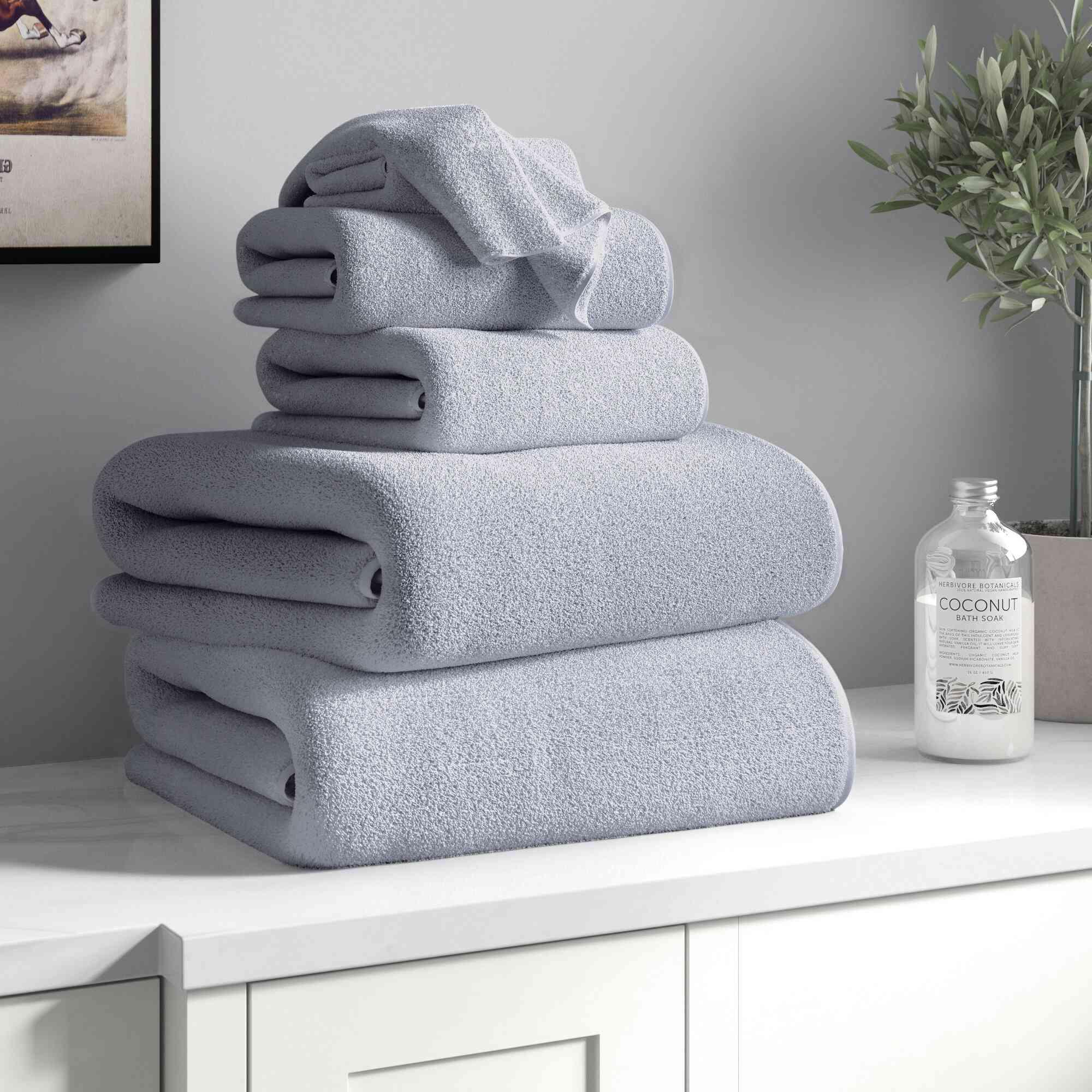 Three Posts Jenkin 6 Piece Egyptian-Quality Cotton Towel Set