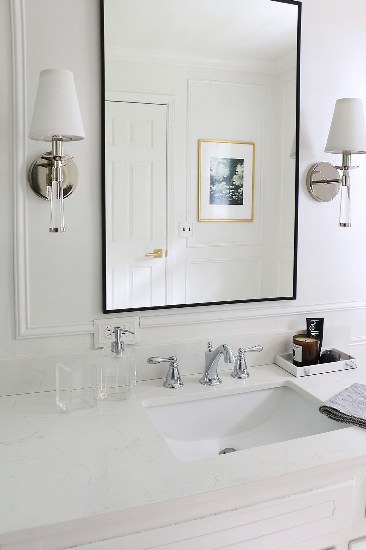 bathroom quartz countertop