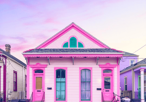 pink house exterior