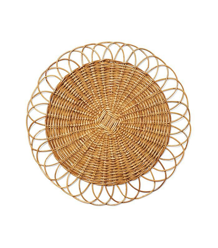 Serena & Lily Round Rattan Placemat