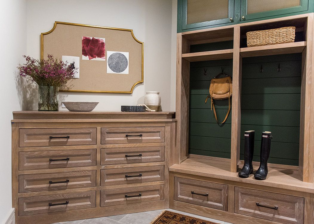 Mudroom with command center