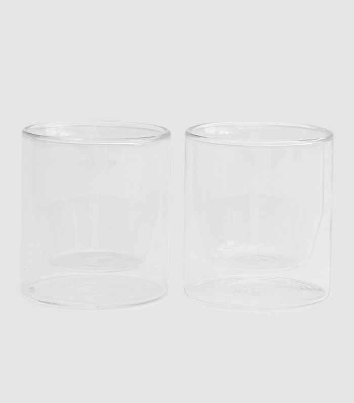 Double-Wall 6-oz. Glass Set of 2 Clear
