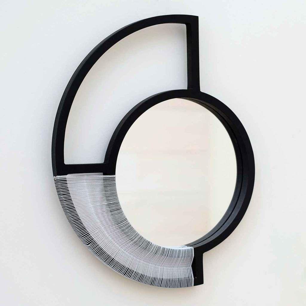 Modern Gesture Woven Mirror Artwork