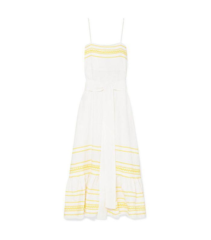 Fiesta Rickrack-trimmed Linen Dress