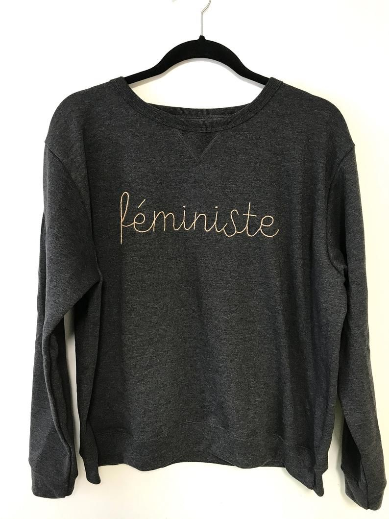 TheLadyDoth Féministe Embroidered Sweatshirt
