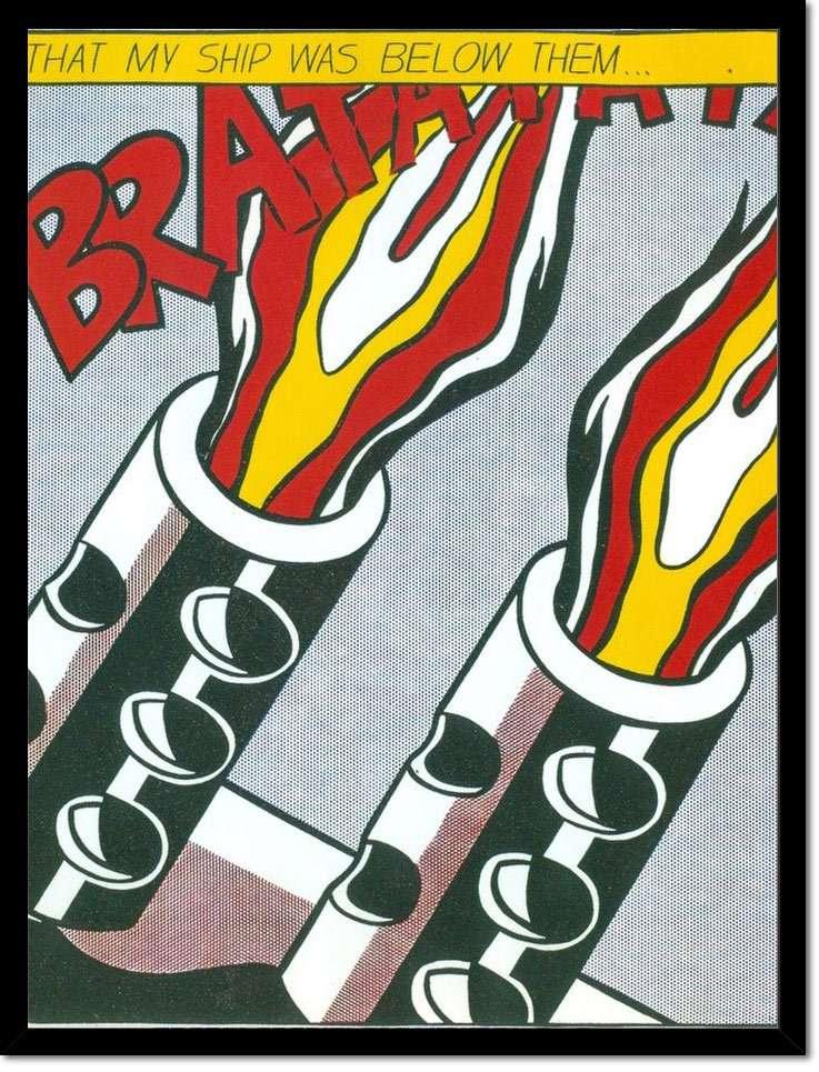 A Roy Lichtenstein Brat At At print.