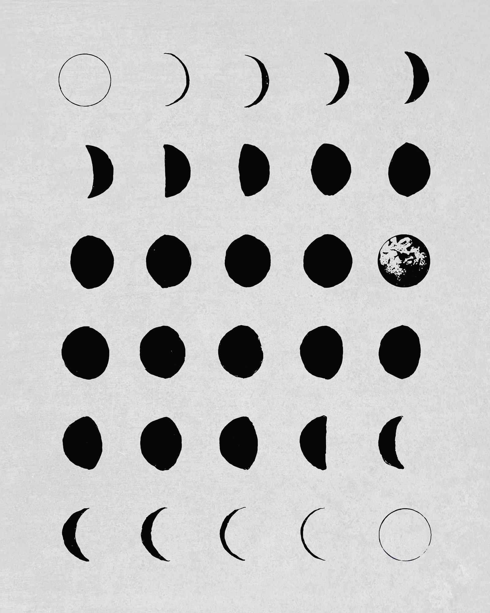Moon Phases print.