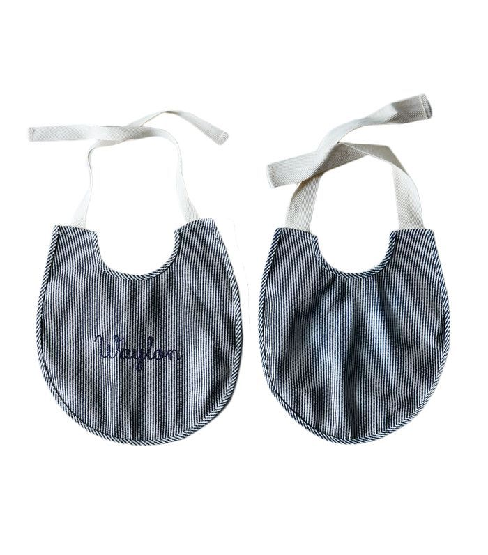 Food52 Railroad Stripe Baby Bib