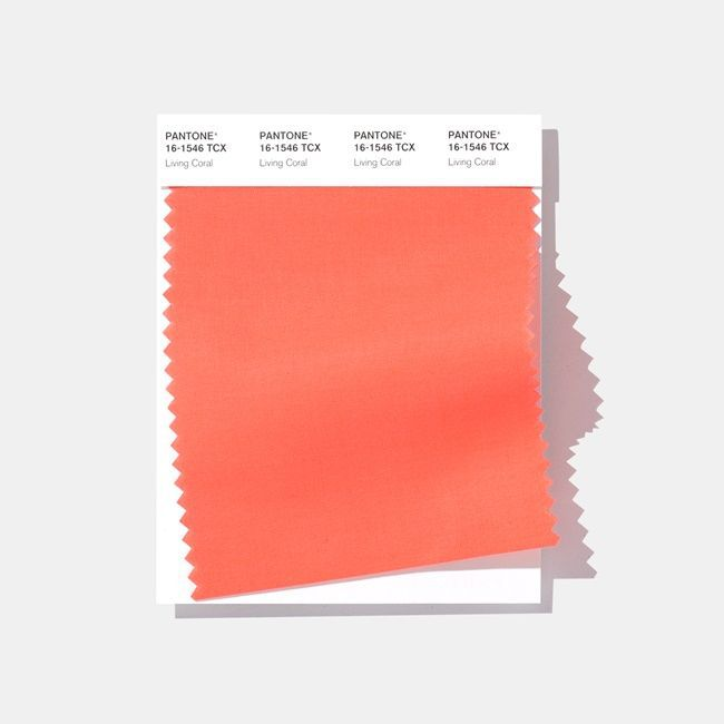 Pantone Color Swatch Card - 16-1546 Living Coral
