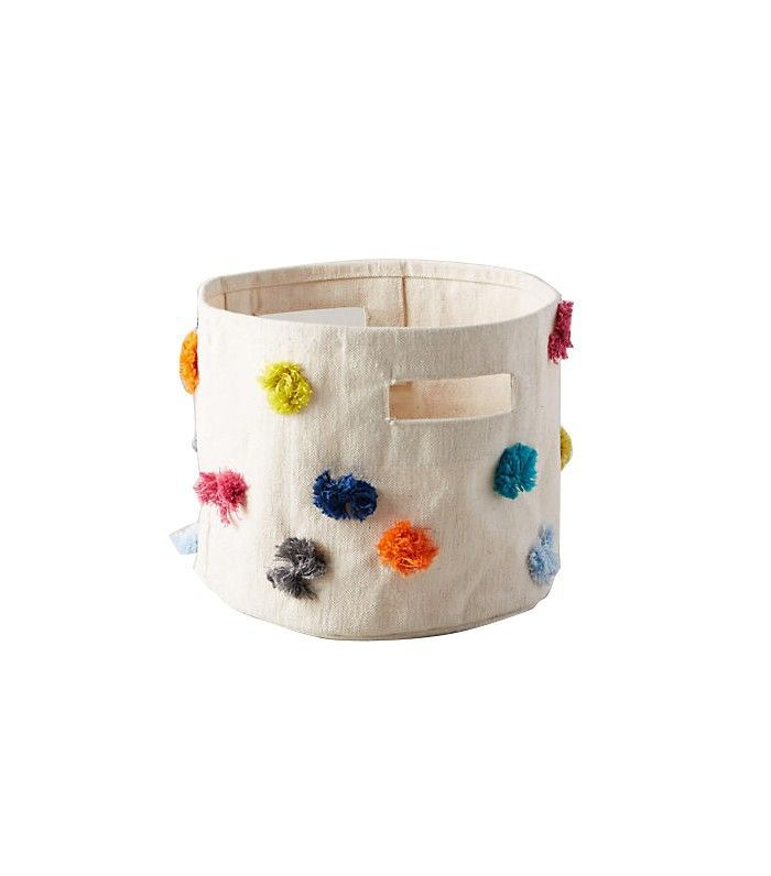 Anthropologie Rainbow Tufts Basket