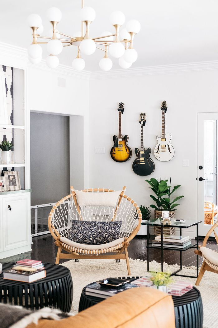 Trish and Billy Ray Cyrus—living room