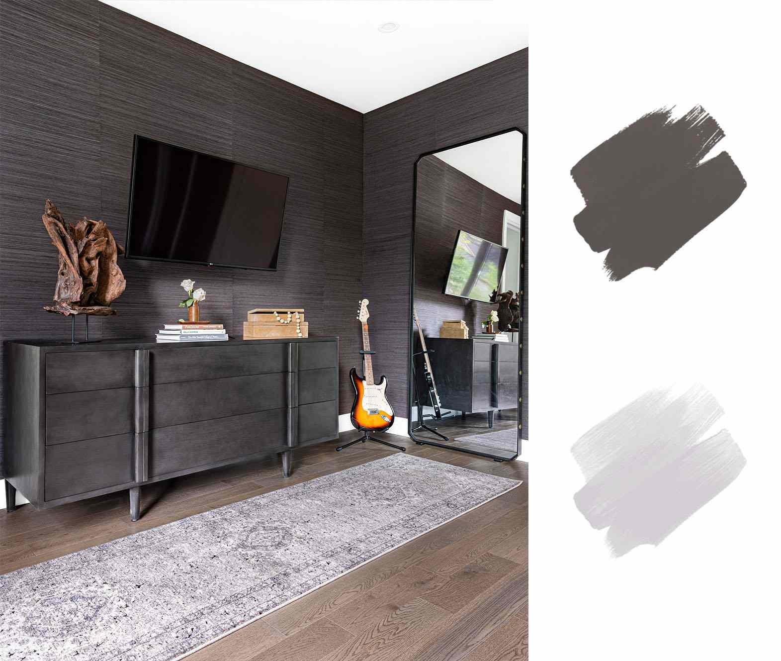 best interior color schemes- brown and gray