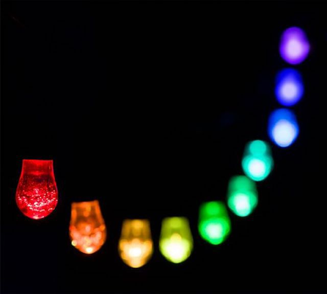 Pottery Barn Solar Powered Color-Changing Indoor/Outdoor LED String Lights