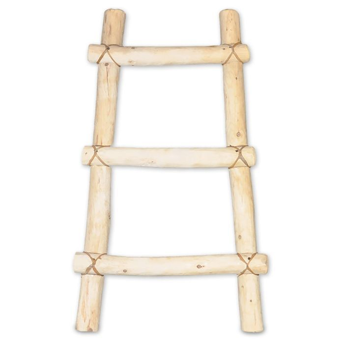 Sunland Artisans Decorative Wooden Log Kiva Blanket Ladder