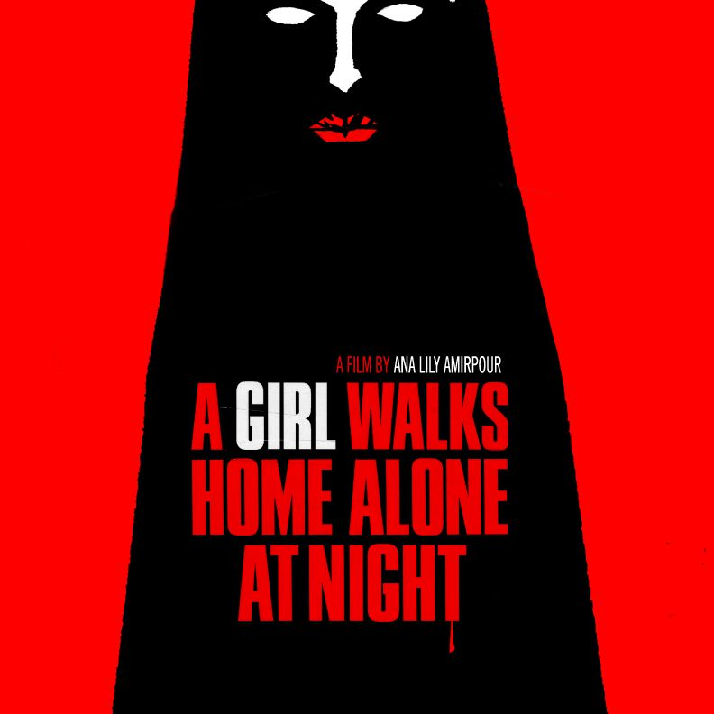 A Girl Walks Home Alone at Night (2014) poster.