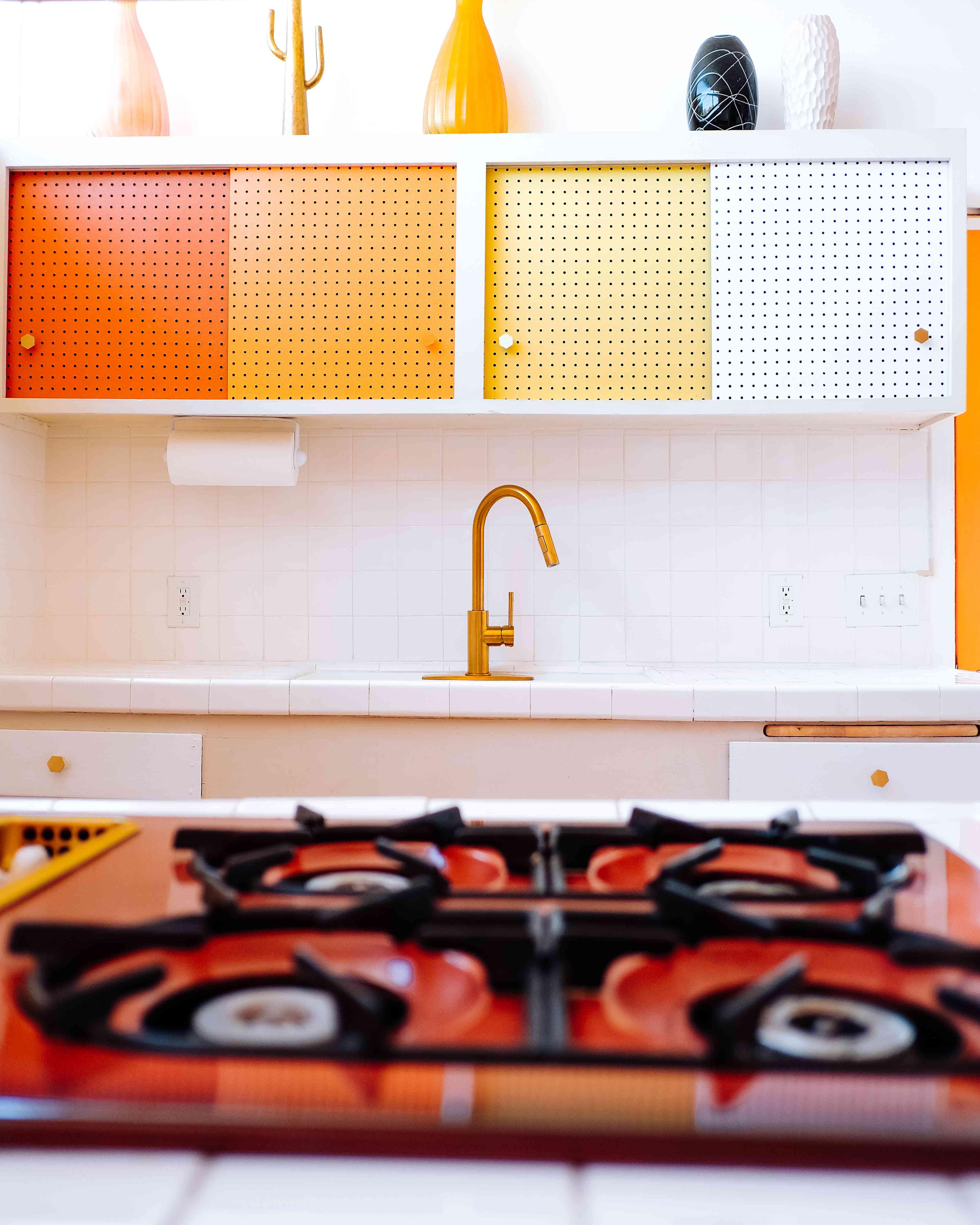 Warm toned kitchen