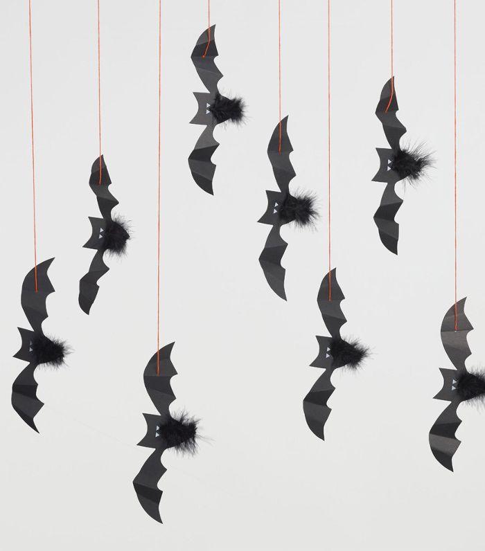 Halloween Bats Hanging Decor Set of 8 by World Market