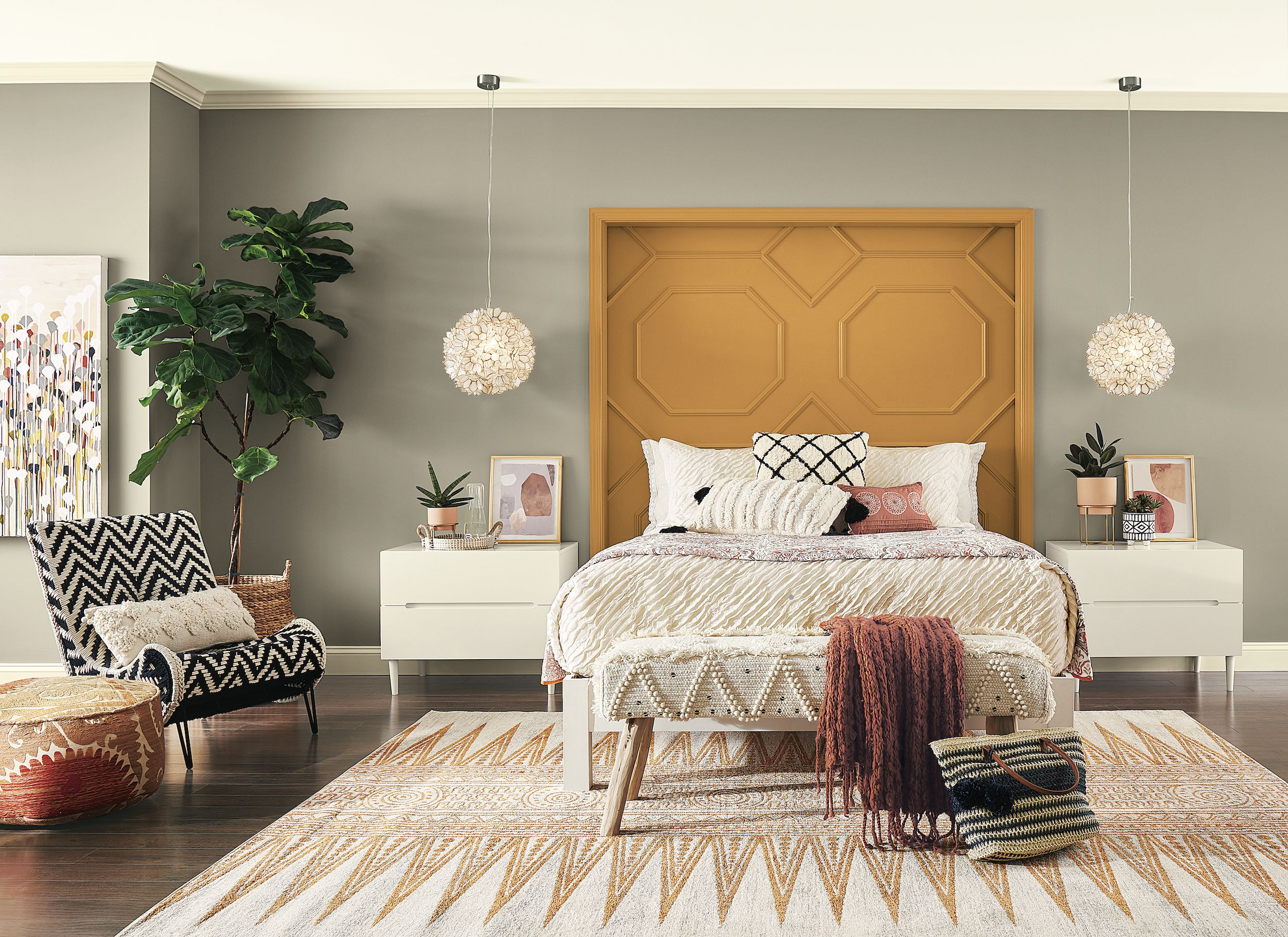 Contemporary eclectic bedroom