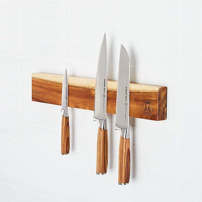 wood knife magnet