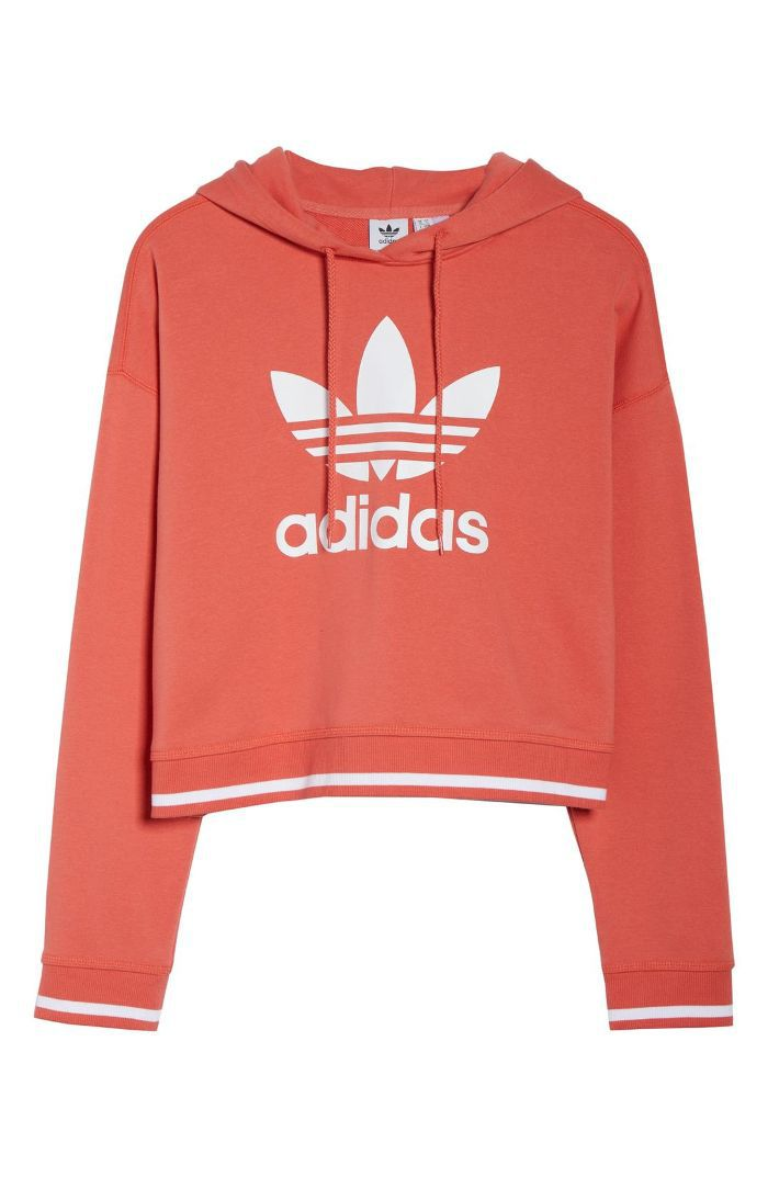 Women's Adidas Active Icons Cropped Hoodie Daytime Date Ideas