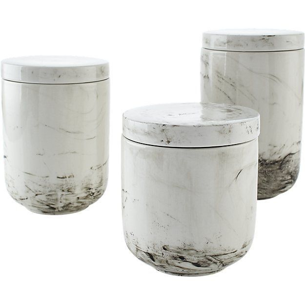 CB2 Stir Stoneware Canisters