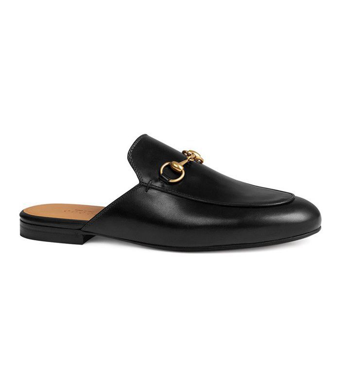 Gucci Princetown Leather Horsebit Mule Slipper Flat