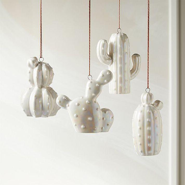 white cactus ornaments