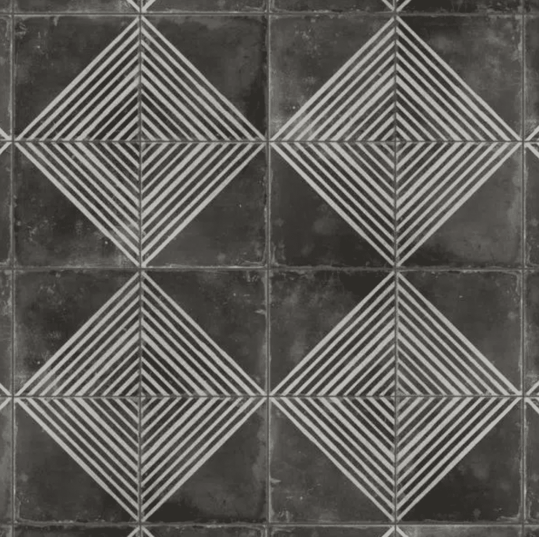 A series of printed tiles you can buy at Home Depot