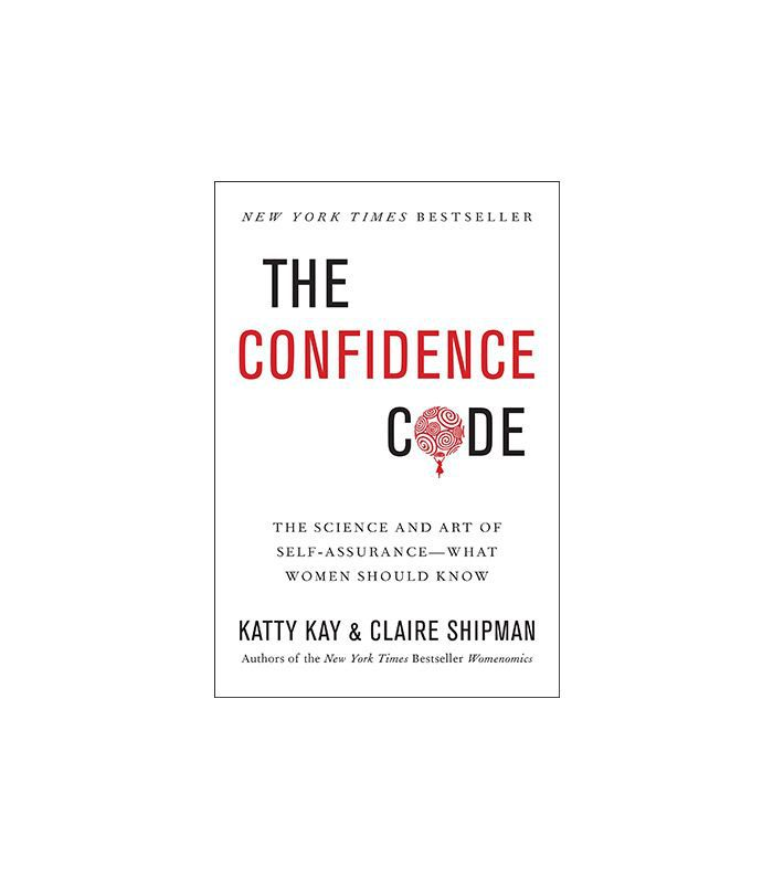 A book cover entitled, The Confidence Code, with black and red text.