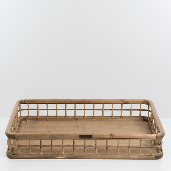Magnolia Wood & Bamboo Grid Tray