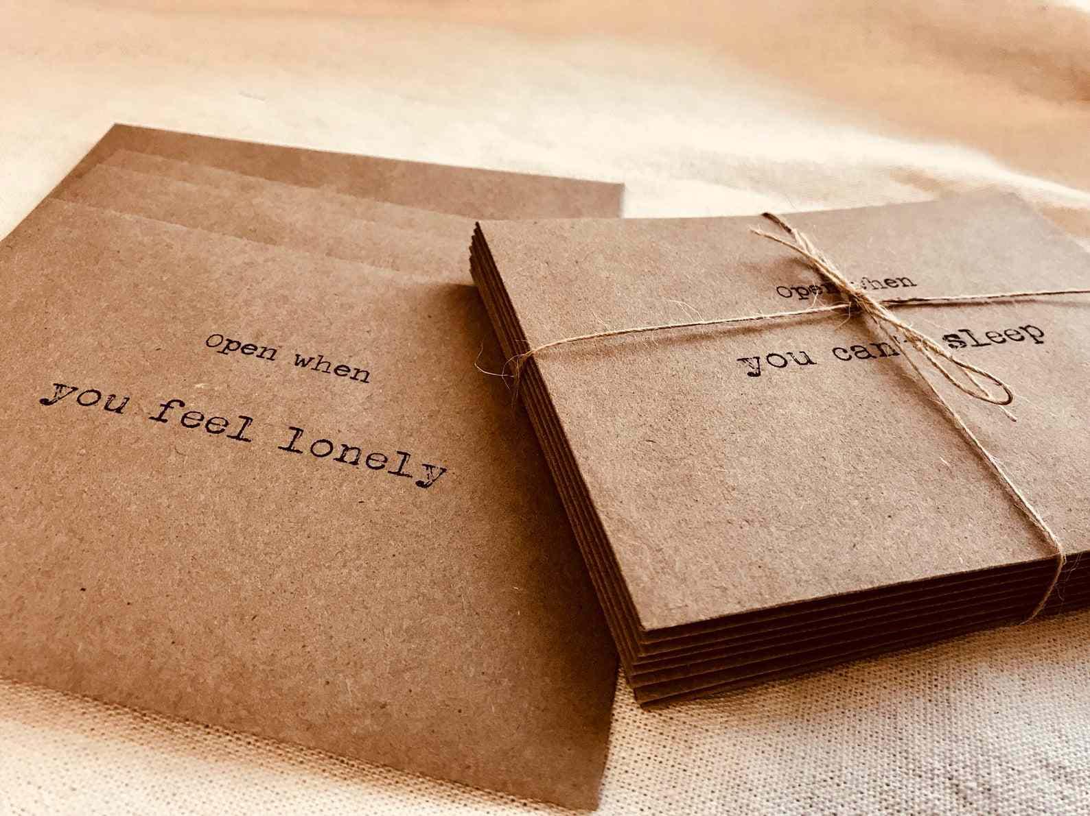Peonyandlaces Long Distance Relationship Envelopes & Note Cards