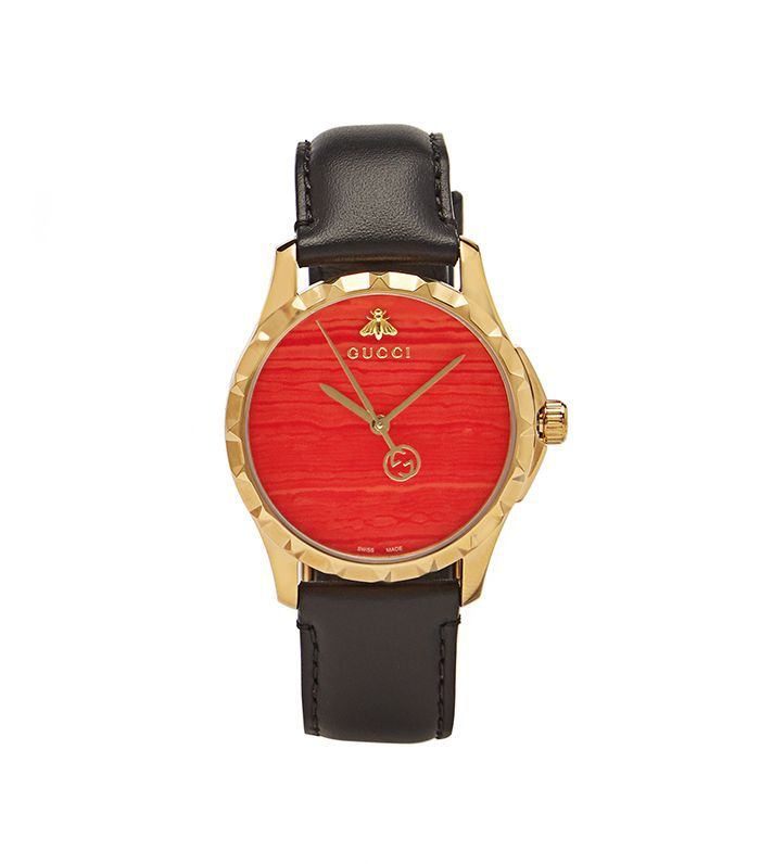 G-Timeless leather watch