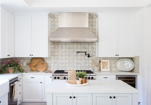 cement tile kitchen backsplash
