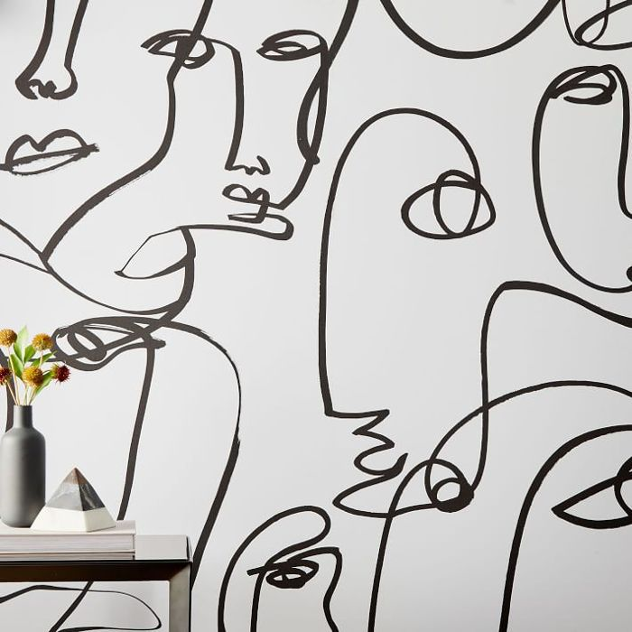 West Elm Drop It Modern Femme Removable Wallpaper