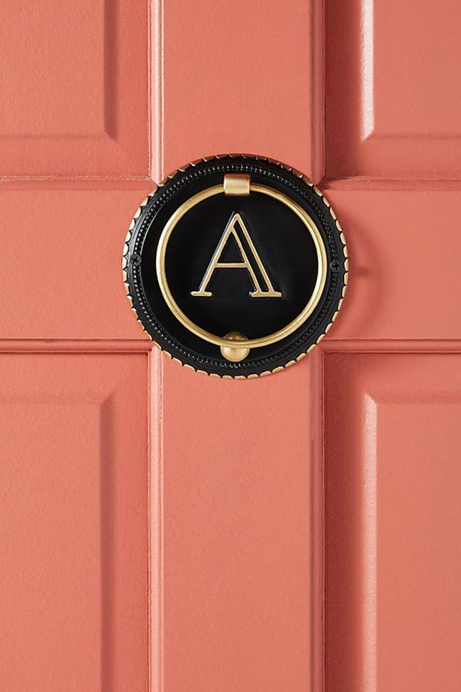 monogram door knocker