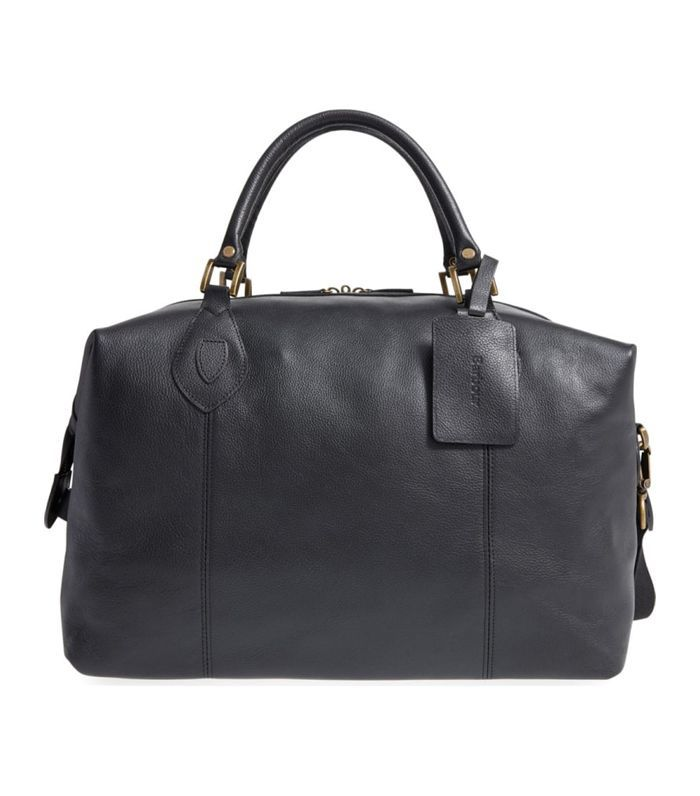 Leather Duffel Bag -