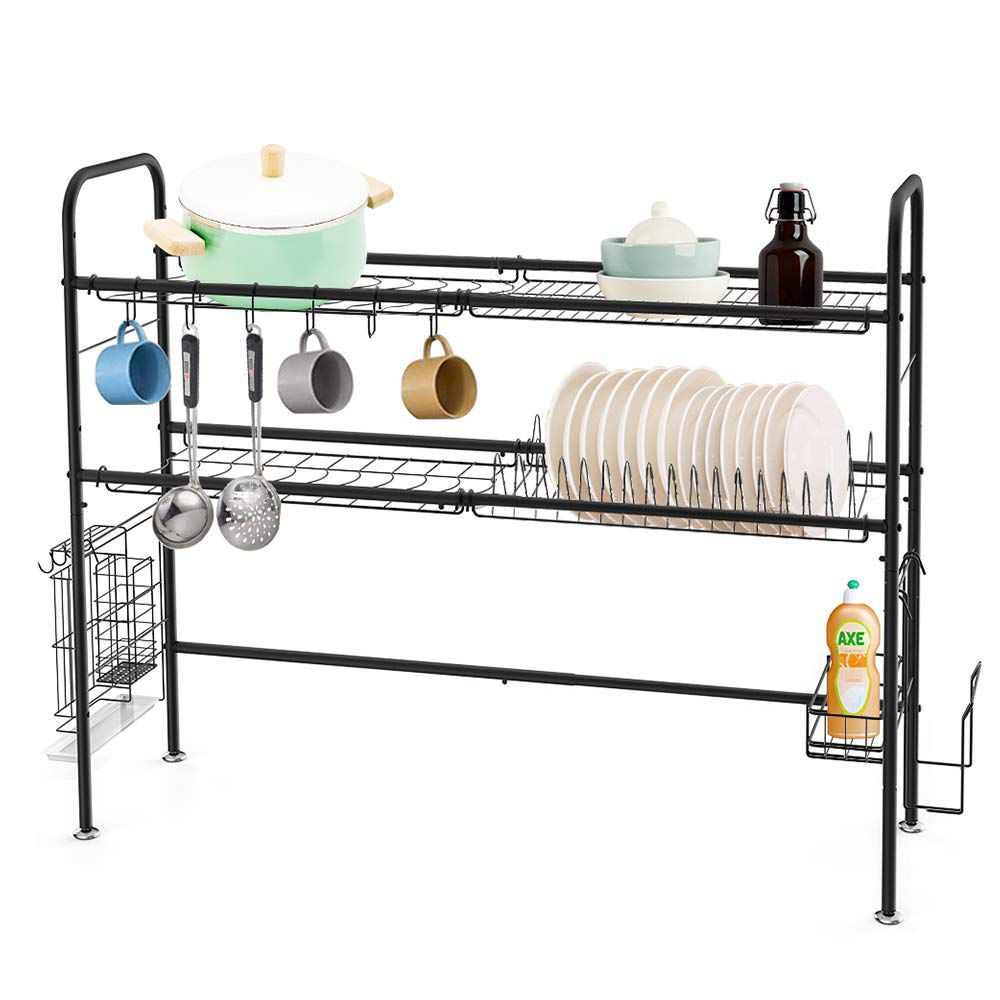 Rejilla para secar platos sobre el fregadero