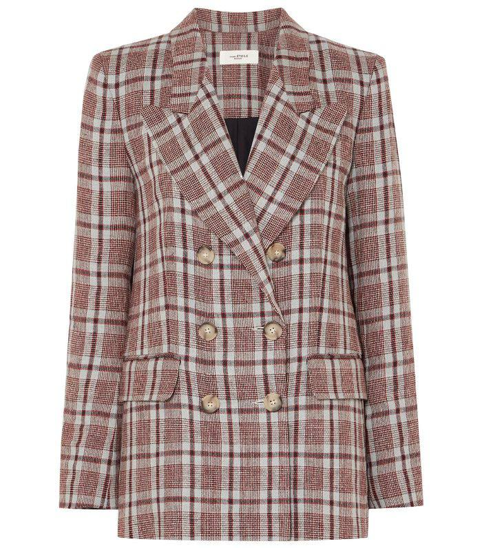 Ianey Checked Linen Blazer